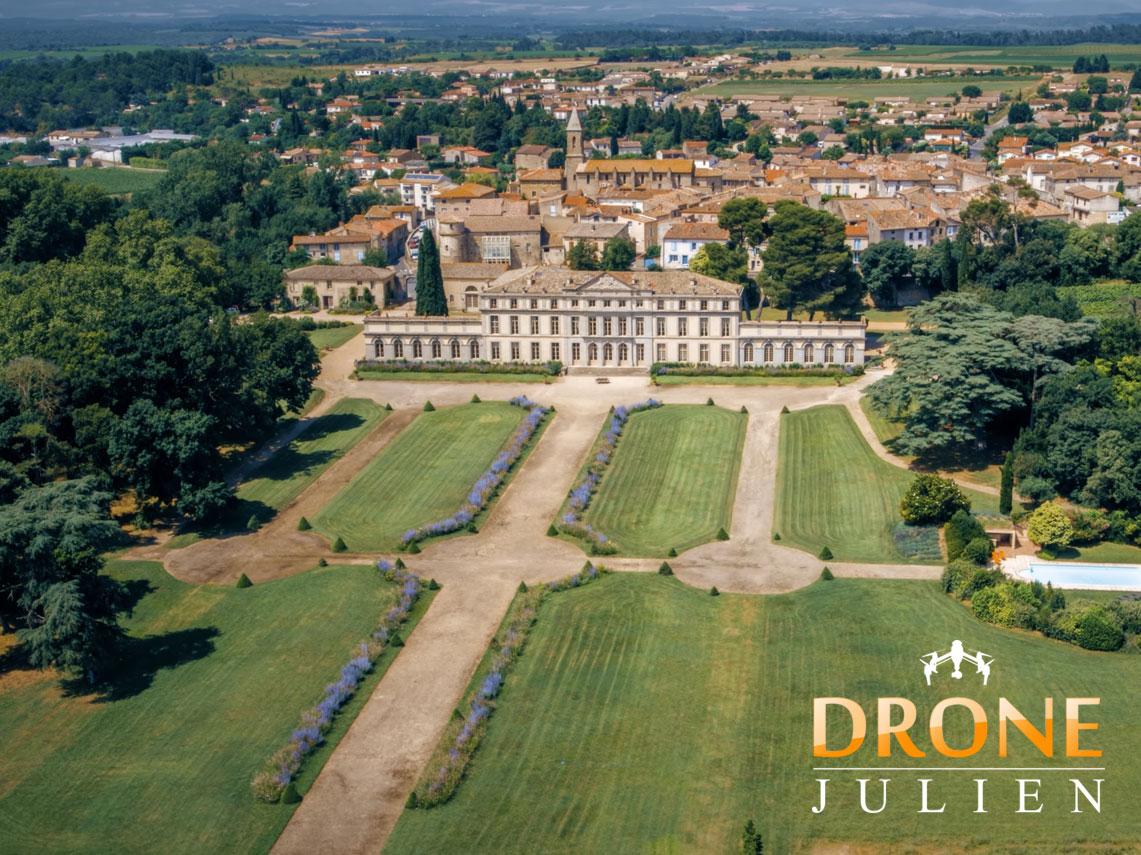 vidéo drone château