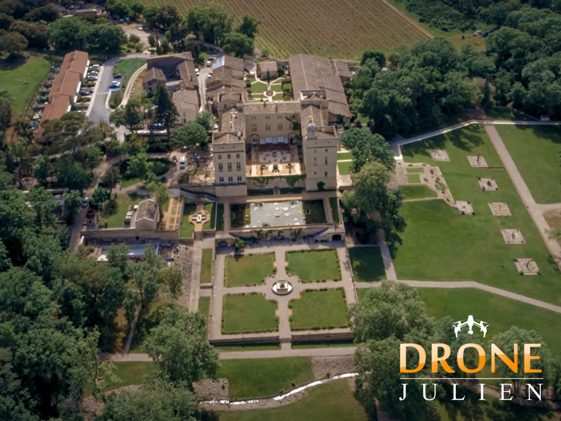 Tournage drone château