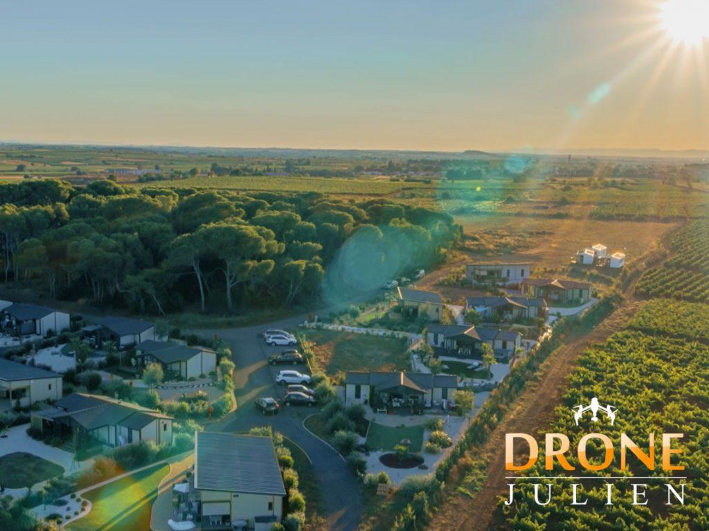 drone vidéo camping