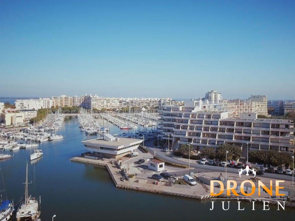 Réalisation vidéo drone port plaisance hérault