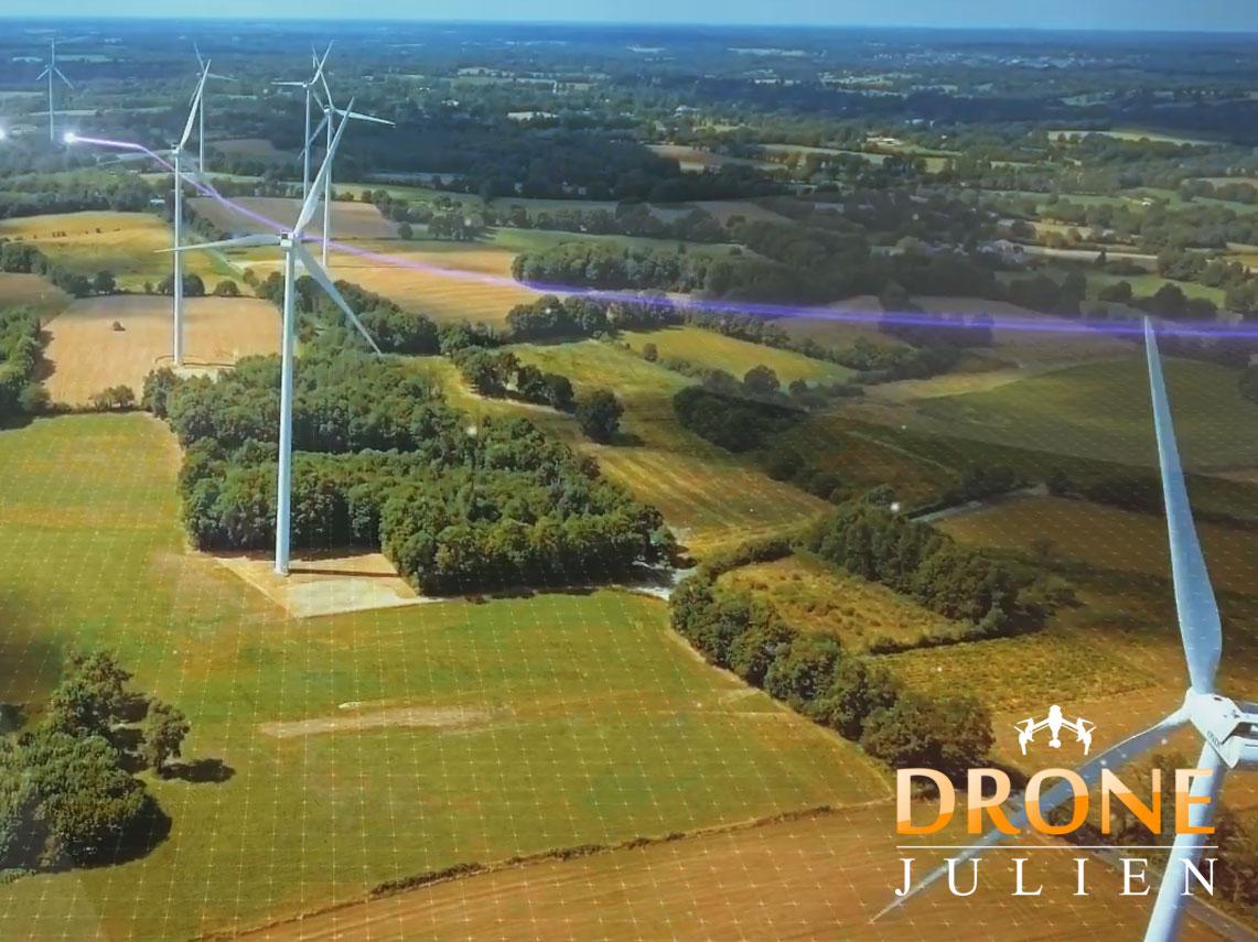 Drone parc éolien