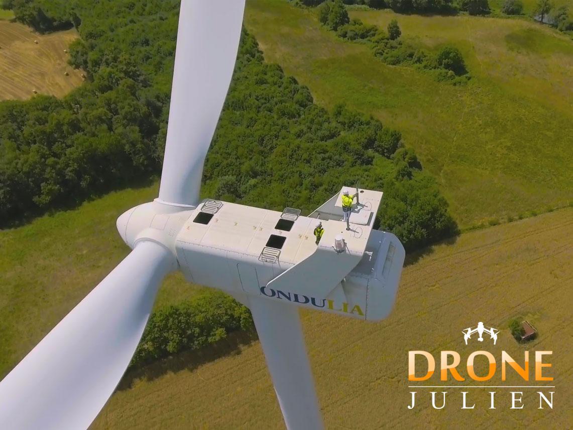 drone eolienne pour film