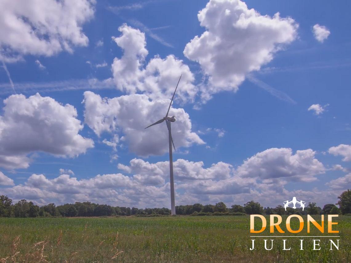 Réalisation vidéo drone éolienne