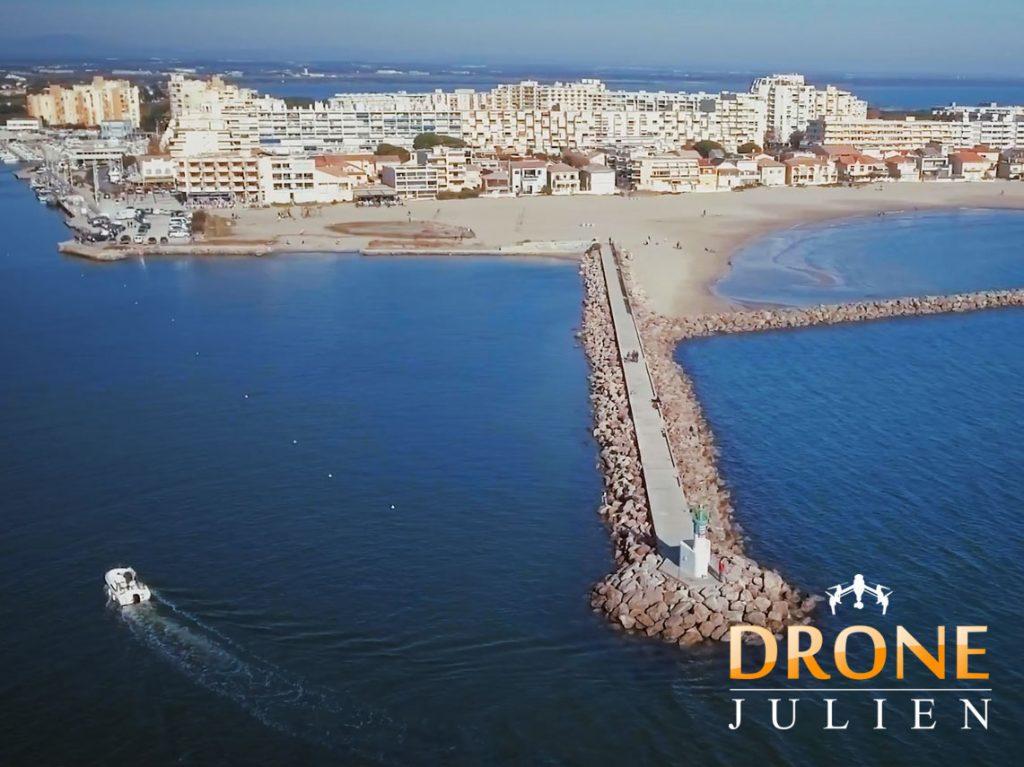 Réalisation d'une vidéo pour mairie, drone port de plaisance dans l'Hérault