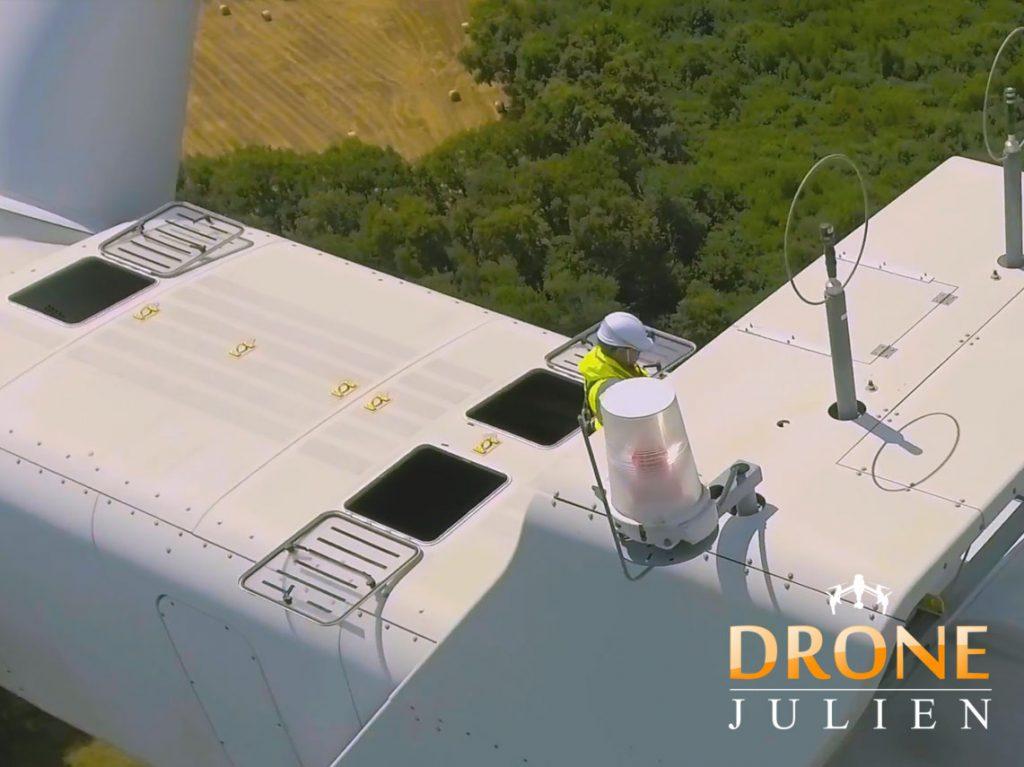 réalisation vidéo drone, éolienne