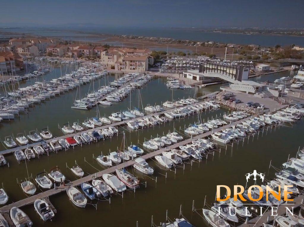 Réalisation vidéo drone port hérault
