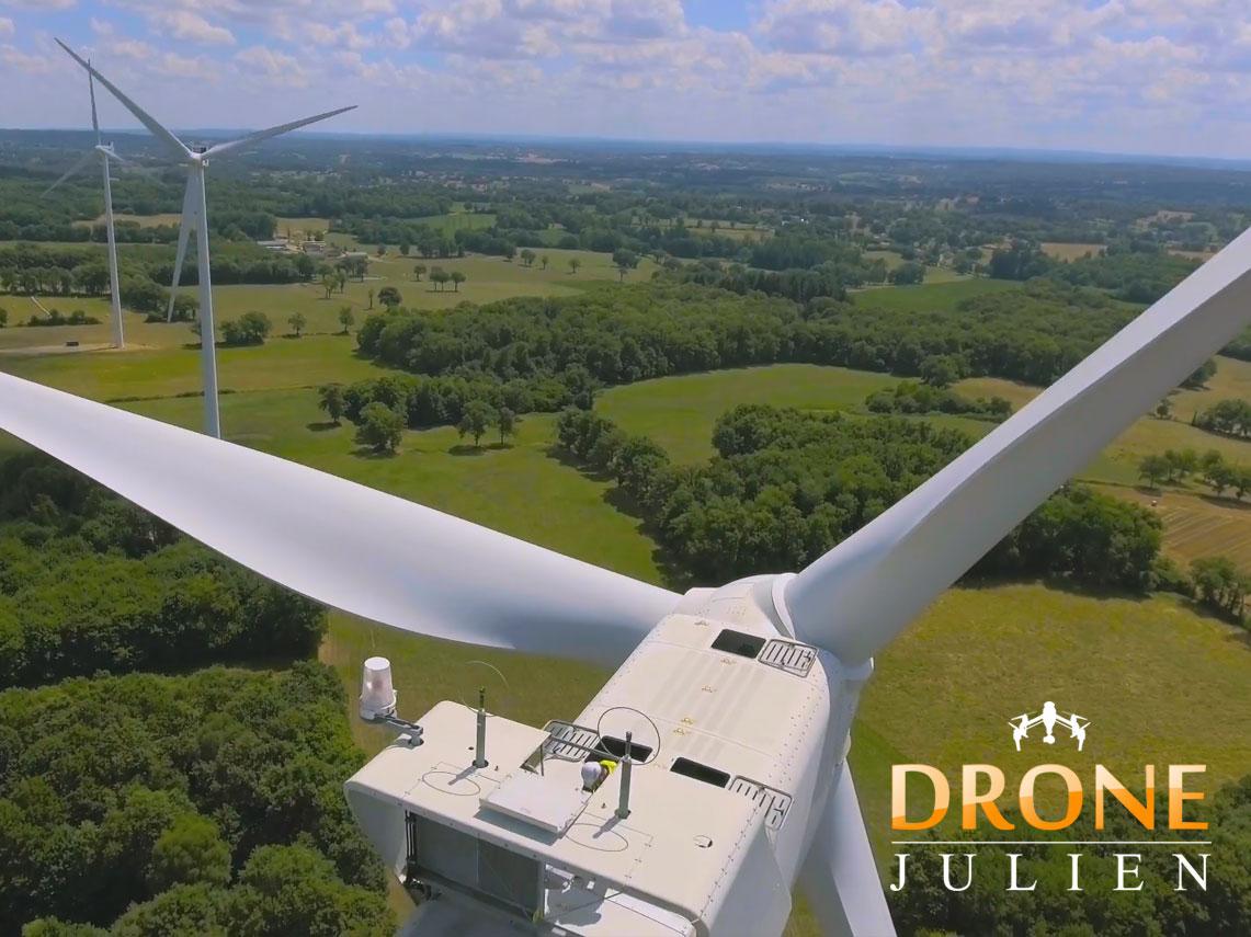 Réalisation d'une vidéo pour parc éolienne