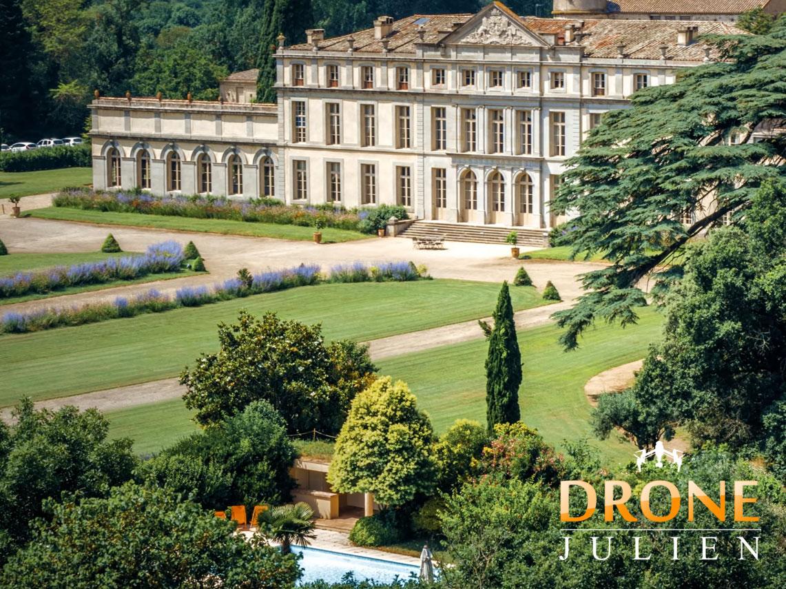 drone château et domaine