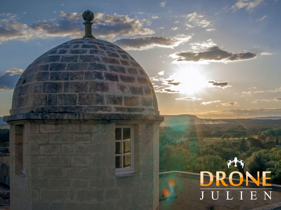 réalisation vidéo drone château