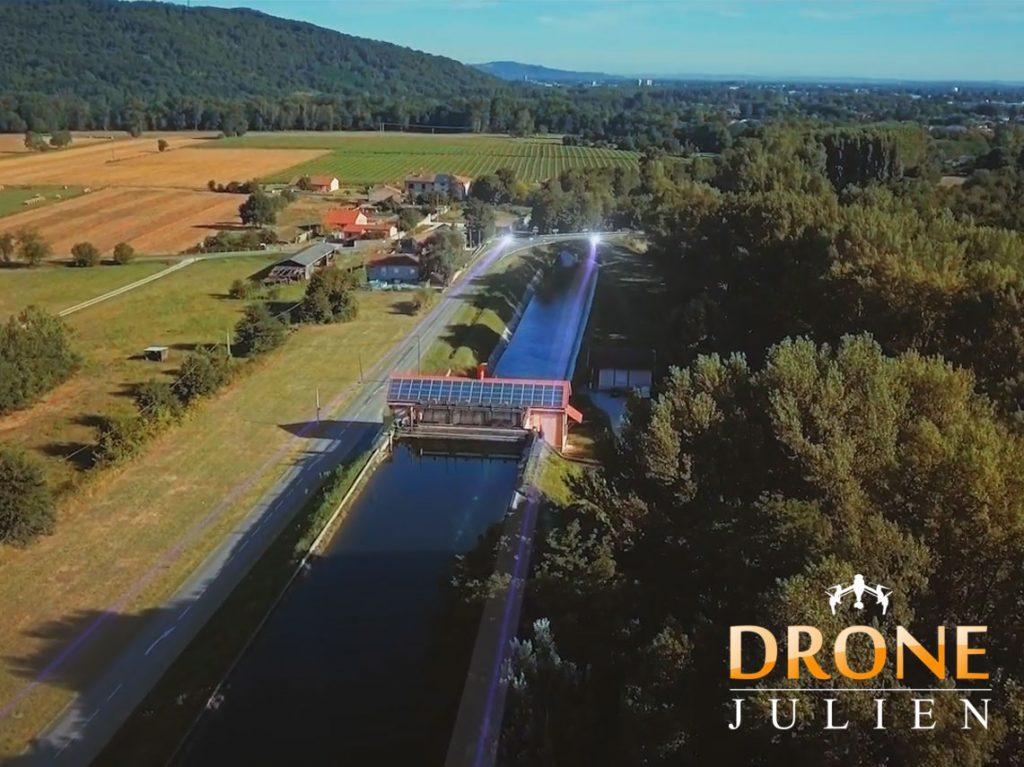 drone vidéo centrale hydroélectrique