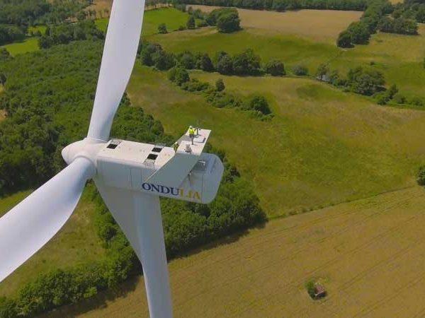 vidéo drone éolienne pour groupe énergies renouvleables