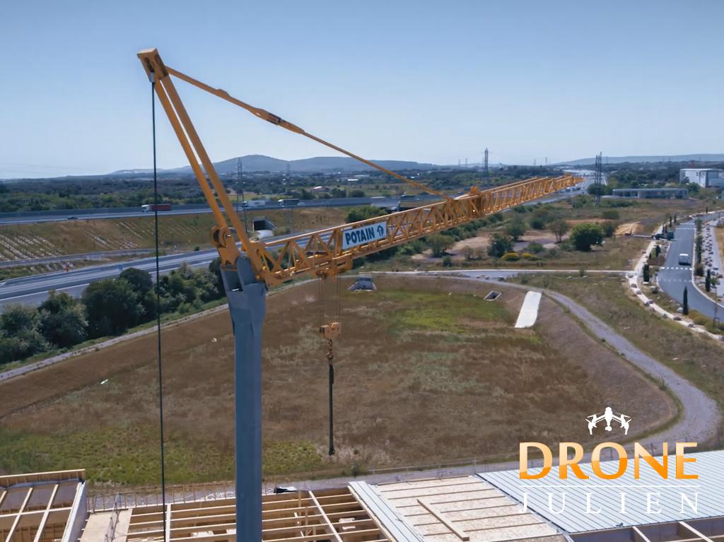 Suivi de chantier Montpellier, drone 6k, drone cinéma