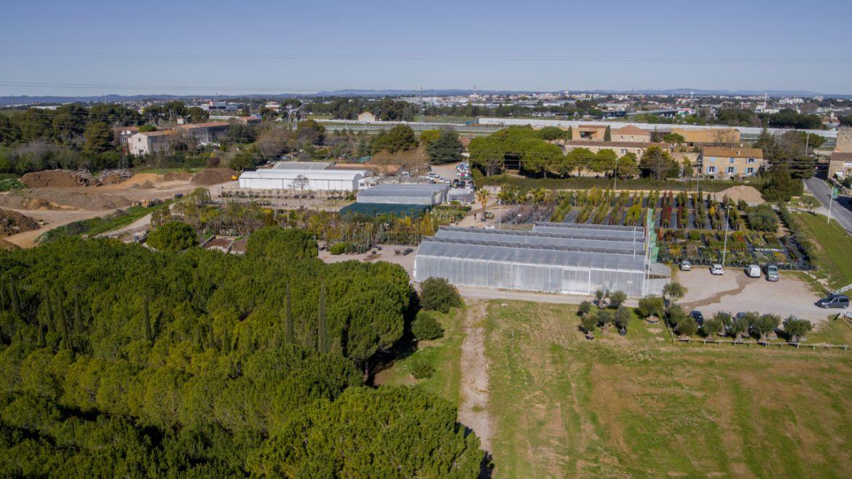 Photo Drone pépinière Montpellier