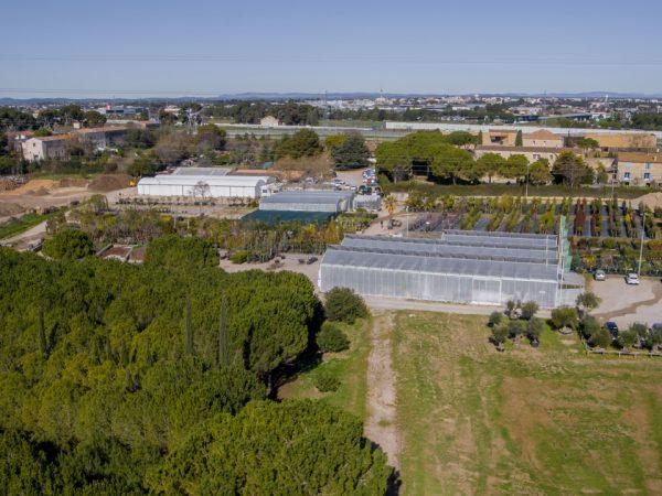 photo drone pépinière à Montpellier